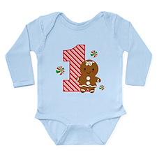 Gingerbread Girl 1st Birthday Long Sleeve Infant B