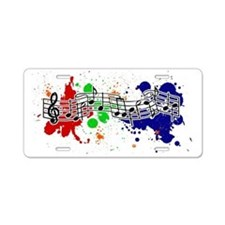 music Aluminum License Plate