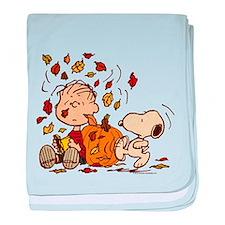 Fall Peanuts baby blanket