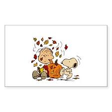 Fall Peanuts Sticker (Rectangle)