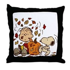Fall Peanuts Throw Pillow