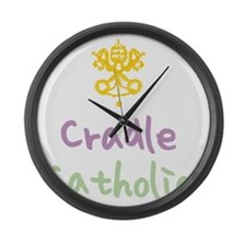 CradleCatholic_both Large Wall Clock