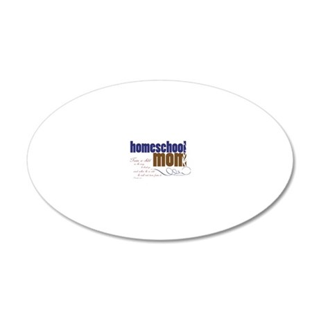 homeschool mom 20x12 Oval Wall Decal
