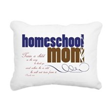 homeschool mom Rectangular Canvas Pillow