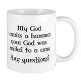 My God carries a hammer Mug