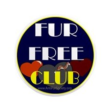 "FUR FREE CLUB2 3.5"" Button"