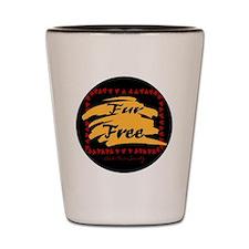 FUR FREE BUTTON2 Shot Glass