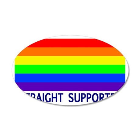 straight supporter 35x21 Oval Wall Decal