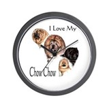 I Love my Chow Chow Wall Clock
