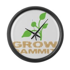 growDammitDark Large Wall Clock