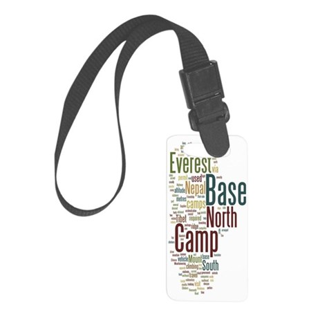 everest bc 2 wordle Small Luggage Tag