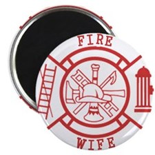 fire wife maltese cross Magnet
