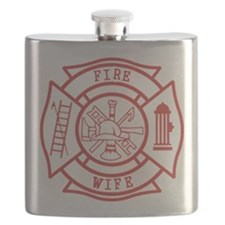 fire wife maltese cross Flask