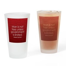 Reagan on Limited Government Drinking Glass