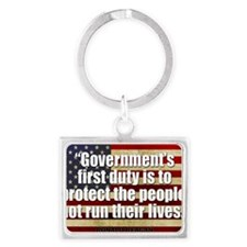 Ronald Reagan Quotes Landscape Keychain