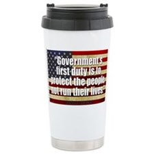 Ronald Reagan Quotes Ceramic Travel Mug