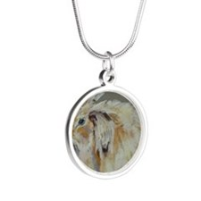 angora Silver Round Necklace