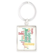 wordle 1 dark mountain list Portrait Keychain
