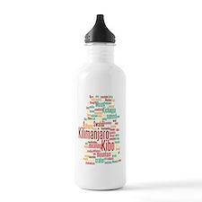wordle 5 dark kilimanj Water Bottle