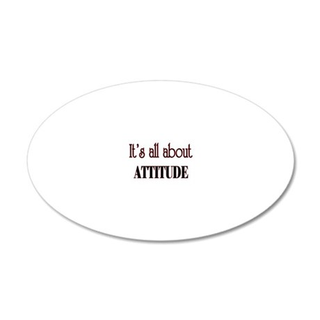 attitude 20x12 Oval Wall Decal