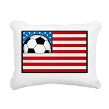 USA Soccer Flag Rectangular Canvas Pillow