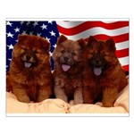 Proud Chow Puppies Small Poster