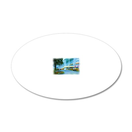 Mac Hotel Side-water 20x12 Oval Wall Decal