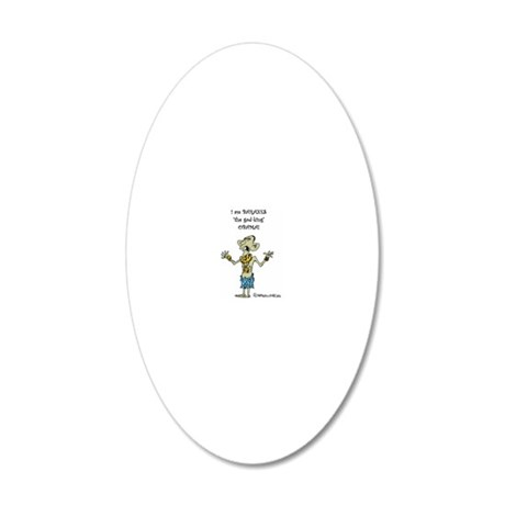 god king (2) 20x12 Oval Wall Decal