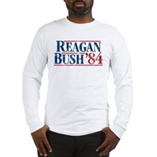 Distressed Reagan - Bush '84 Long Sleeve T-Shirt
