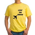 Living The Dream Yellow T-Shirt