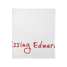 kissingedward2 Throw Blanket