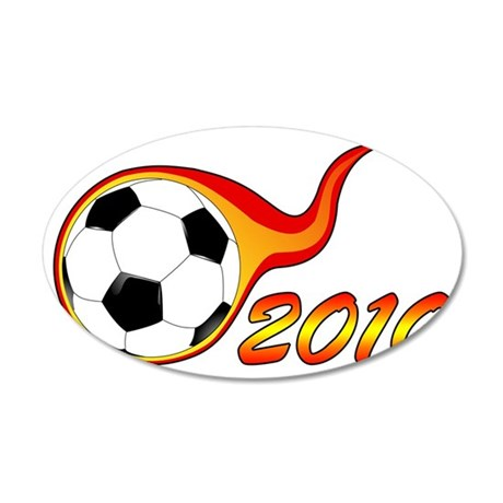 2010SoccerDesign2 35x21 Oval Wall Decal