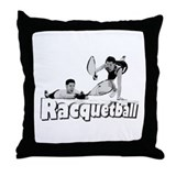 Brian & Joe's Racquetball Clu Throw Pillow
