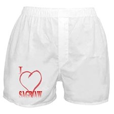 I LOVE SAGINAW. Boxer Shorts