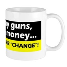 3-black yellow keep guns freedom money Mug