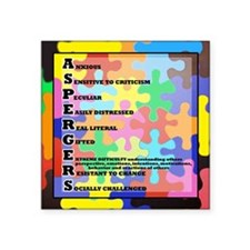"""ASPERGERS 2010  2 Square Sticker 3"""" x 3"""""""