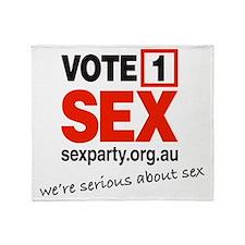 vote1_serious Throw Blanket
