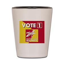 vote1 Shot Glass