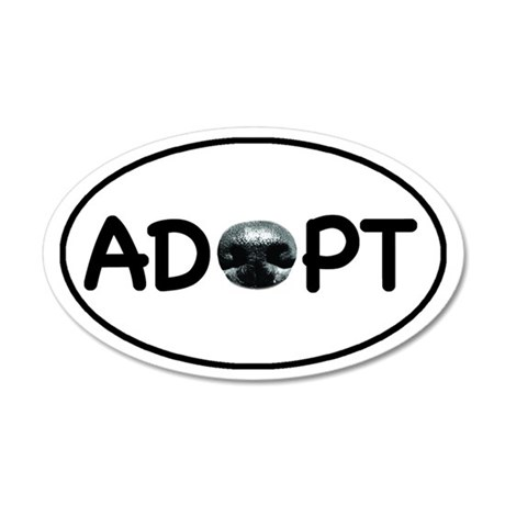 adopt nose oval-white 35x21 Oval Wall Decal