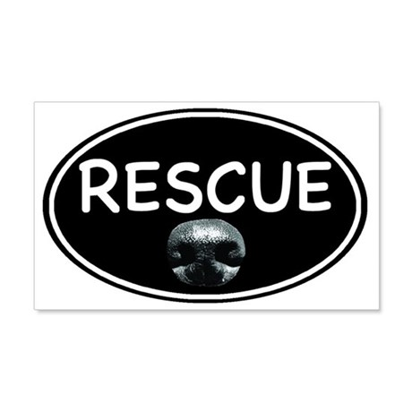 Rescue nose oval-black 20x12 Wall Decal
