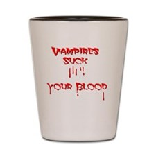 funny vampire Shot Glass