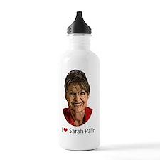 I heart palin Water Bottle