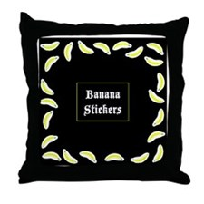 BananaStickersBox Throw Pillow