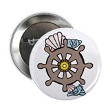 "Seashells On Wheel 2.25"" Button (100 pack)"