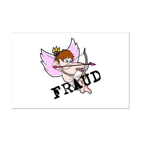 Cupid is a FRAUD! Mini Poster Print