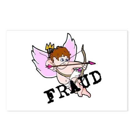 Cupid is a FRAUD! Postcards (Package of 8)