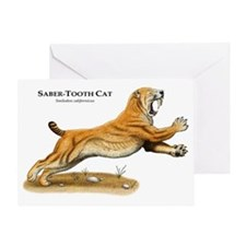 Saber-Tooth Cat Greeting Card