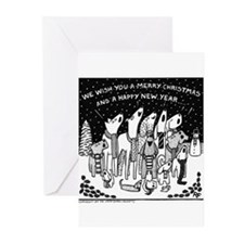 Dog Christmas Carols! Greeting Cards