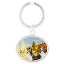 MP-Regatta - 2 Shelties (D&L) Oval Keychain