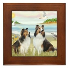 MP-Rowboat - 2 Shelties Framed Tile